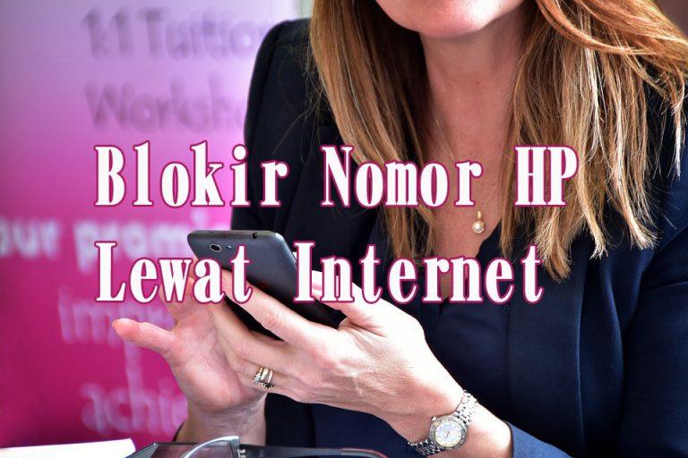 blokir nomor lewat internet