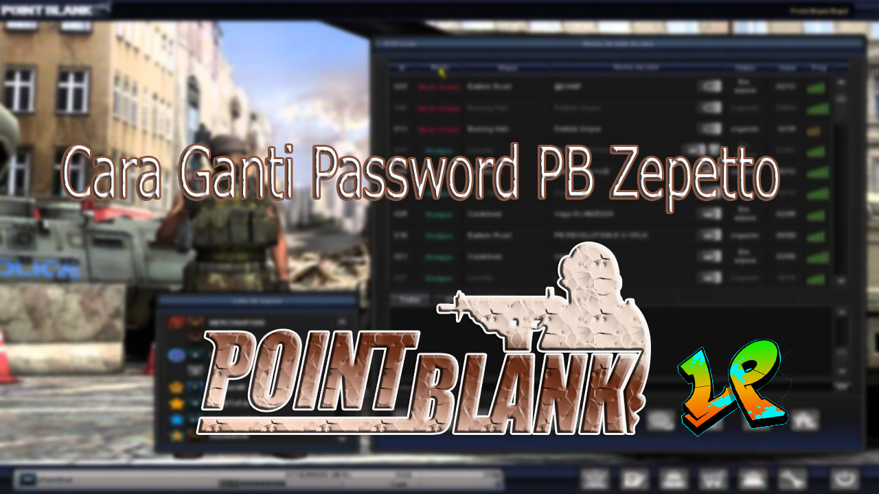 Cara Ganti Password PB Zepetto