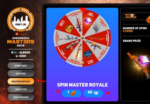 Spin Master Royal Free Fire