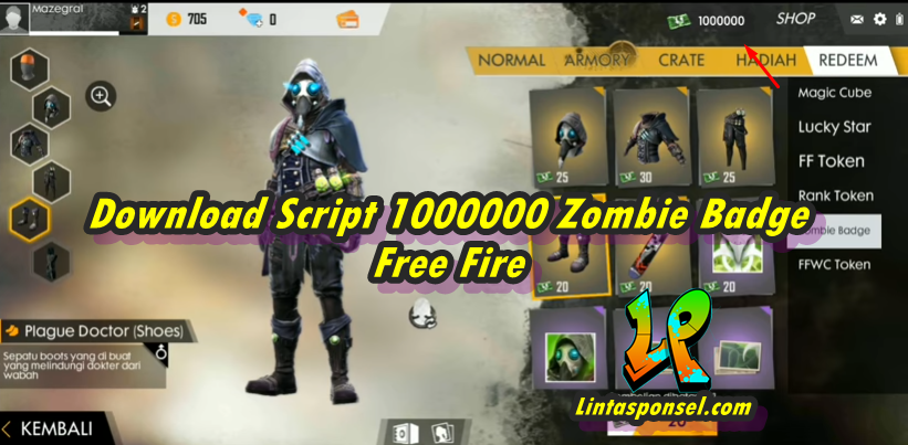 download script 1000000 zombie badge free fire 1