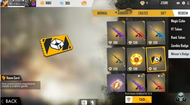 hadiah Winners Badge Free Fire