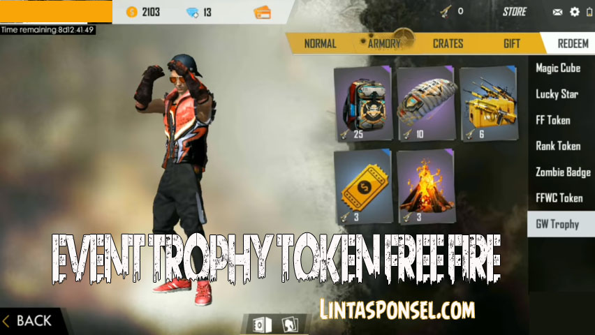 event Trophy token Free Fire
