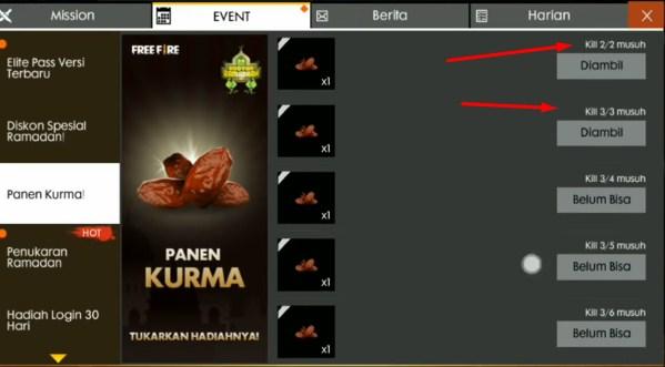 cara mendapatkan ketupat di free fire