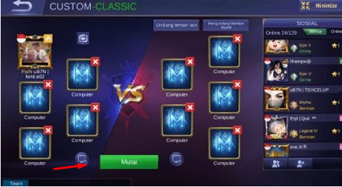 cara bermain Mobile legends Offline