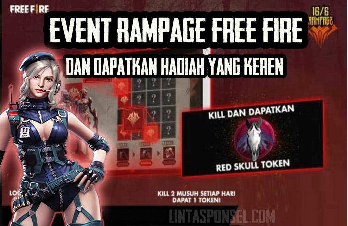 cara mendapatkan hadiah dari Event Rampage Free Fire