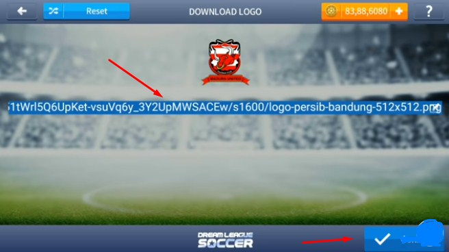 cara ganti logo dream league soccer