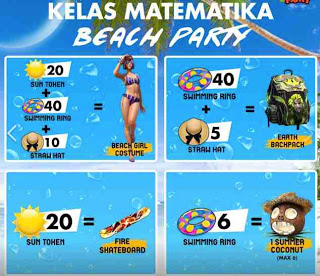 hadiah Event Beach Party FF Free Fire