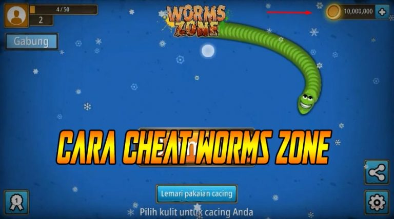 Cara Cheat Worms Zone Zona Cacing Io